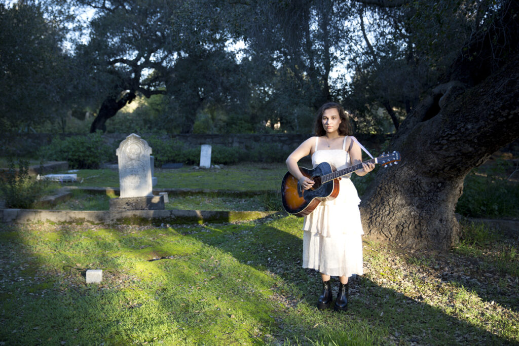 Mik Sullivan Music - Gallery Images - Mik Sullivan Playing Guitar in Graveyard